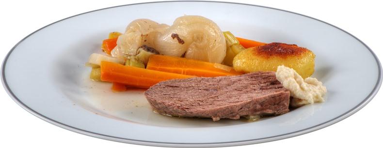 Zdrav obrok na tanjiru, meso i povrće